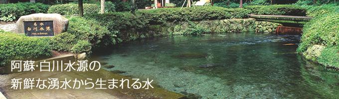 阿蘇・白川水源の新鮮な湧水から生まれる水